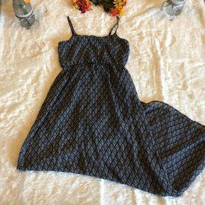 Forever 21 Black White Geometric Maxi Dress Sz M